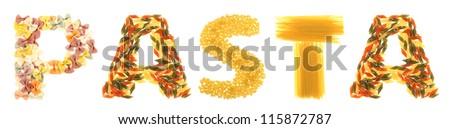 Pasta letters - stock photo