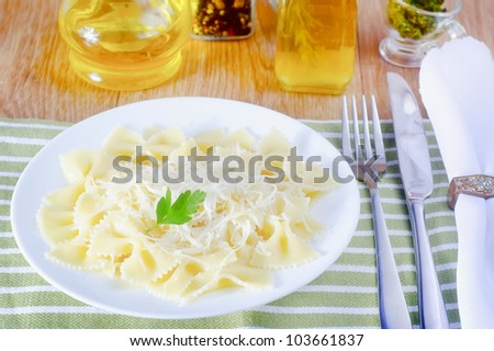 pasta with cheese - stock photo