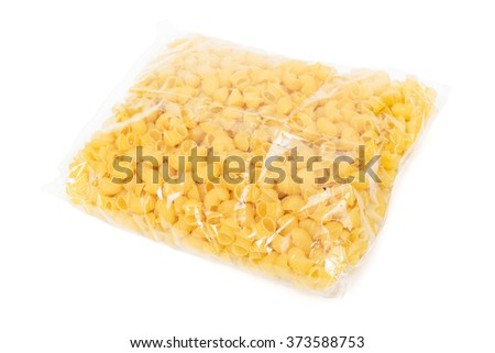 paste wrapped in cellophane on a white background - stock photo