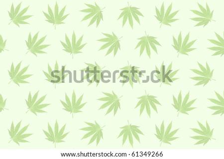 Pastel background formed with hemp (marijuana) leaves. - stock photo
