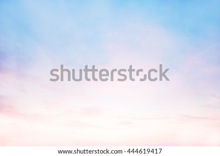 Pastel blur heaven clouds sky background. Soft focus blue sky white sunlight day time backdrop. Abstract blurred of sunlight. Open view out windows. Cyan gradient backdrop. Blurry nature summer. - stock photo