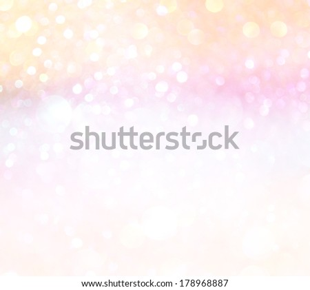 pastel bokeh lights or multicolored defocused lights - stock photo