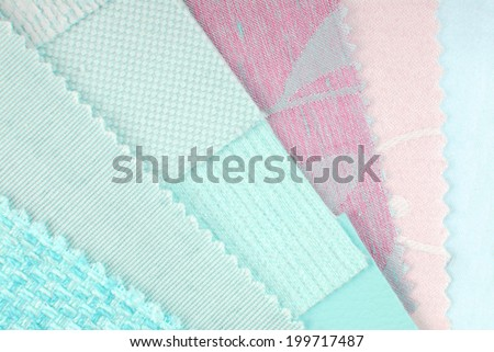 pastel  color design  selection for interior - stock photo