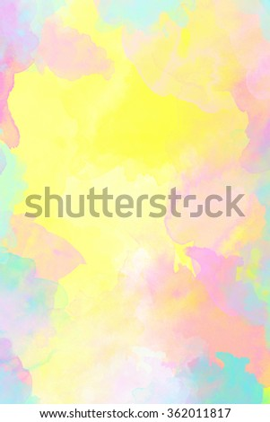 Pastel colored watercolor background  - stock photo
