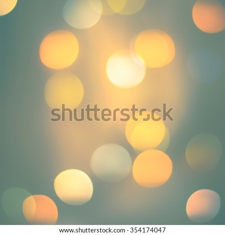 Pastel Defocused Green Yellow Color Lights. Festive background with Bokeh - stock photo