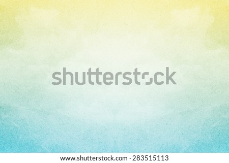 pastel gradient color on cloudscape with grunge paper texture - stock photo