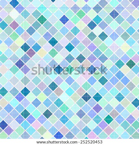 Pastel multicolored stripes mosaic plaid, raster version - stock photo