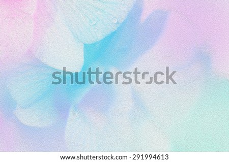 Pastel orchid flower in soft and blur style for background - stock photo