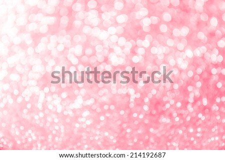 Pastel pink abstract blur bokeh lights. defocused background. - stock photo