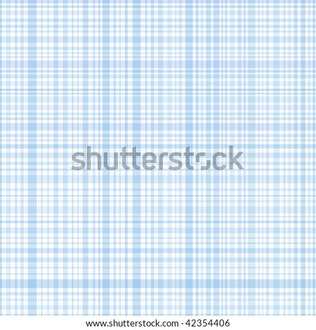Pastel raster blue stripes plaid - stock photo