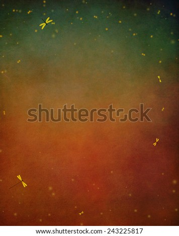 Pastel red textured background with stars - stock photo