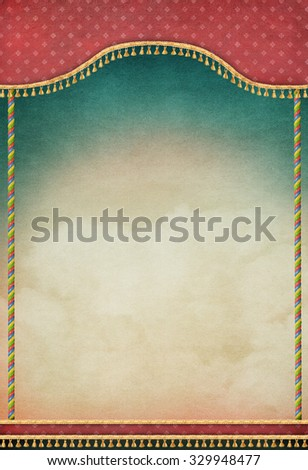 Pastel textured background with shutters and colored columns - stock photo