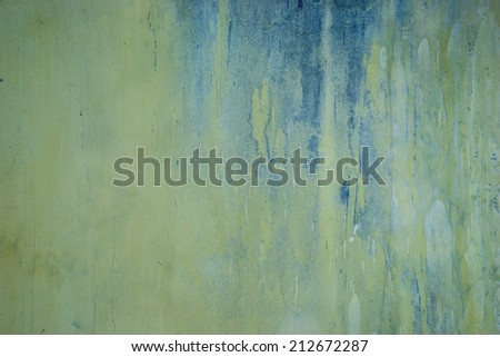 pastel tone grungy wall with messy painting - stock photo