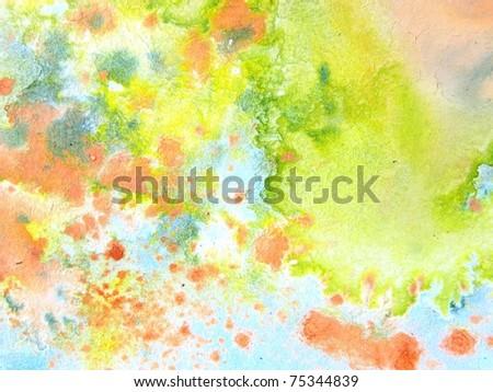 Pastel Watercolors 5 - stock photo