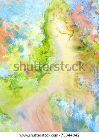 Pastel Watercolors 1 - stock photo