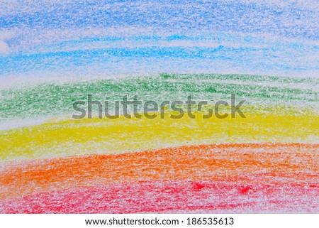 Pastele Pencil Color Rainbow Background  - stock photo