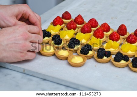 Pastries making - stock photo