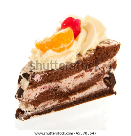 Pastry from germany isolated over white background - stock photo