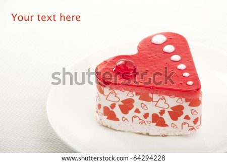 Pastry heart with jelly - stock photo