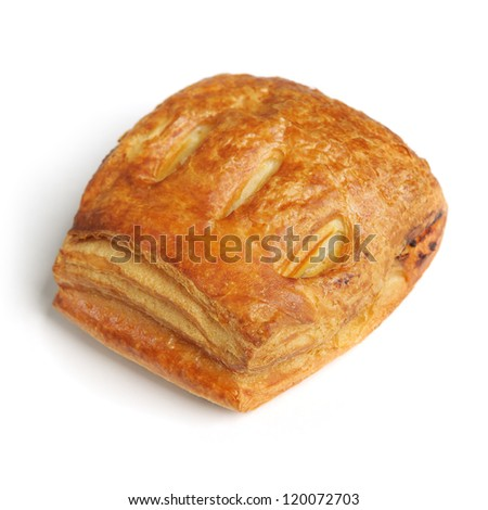 Pasty isolated on white background - stock photo