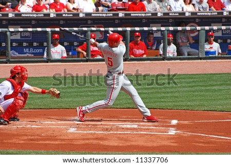 Pat Burrell of the Philadelphia Phillies - stock photo