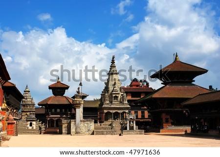 Patan Durbar Square at Kathmandu, Nepal - stock photo