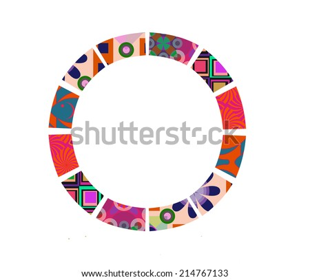 Patchwork Frame - stock photo