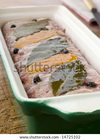 Pate Campagne in a Terrine Mould - stock photo