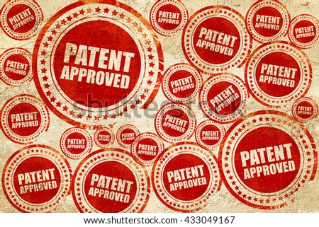 patent approved, red stamp on a grunge paper texture - stock photo
