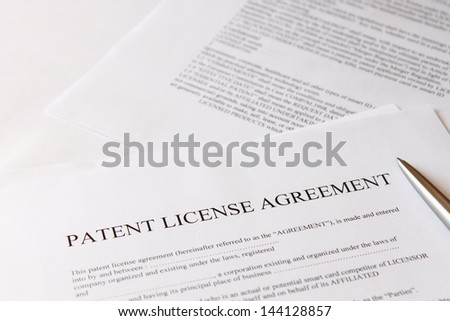 patent license agreement - stock photo