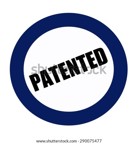 PATENTED black stamp text on white - stock photo