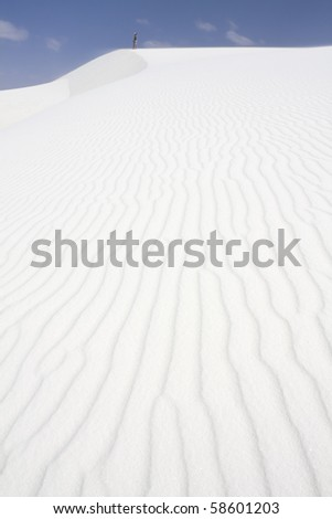 Paterns on dunes = White Sand Dunes National Park - stock photo
