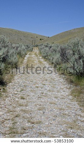 Path leading to where people were once hung. - stock photo