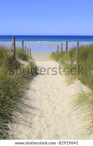 Path, Quiberon, Brittany - stock photo