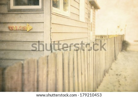 Path to the beach - stock photo