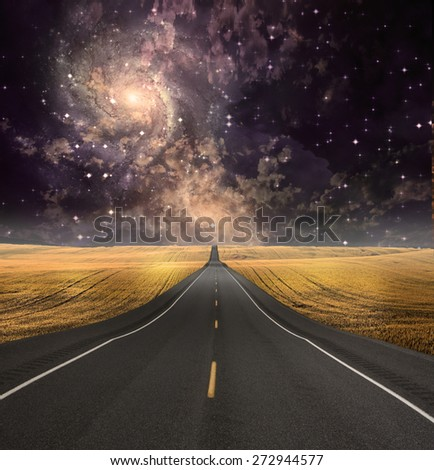 Path vanishes in background - stock photo