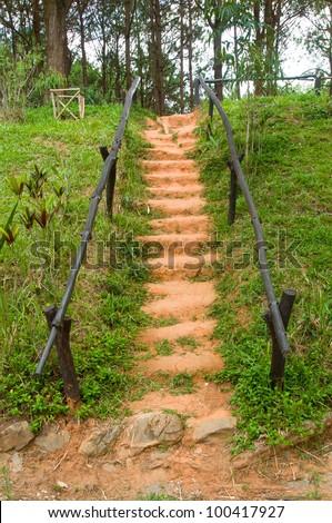 pathway in asian garden - stock photo