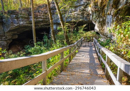 Pathway in Russell Cave National Monument - stock photo