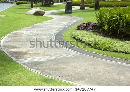 Pathway in the park. - stock photo