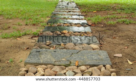 Pathways in the Park. - stock photo
