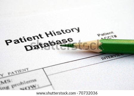 Patient history database - stock photo