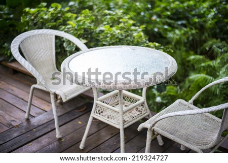 Patio table and chairs - stock photo