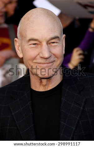 Patrick Stewart at the Los Angeles premiere of 'Gnomeo And Juliet' held at the El Capitan Theatre in Hollywood on January 23, 2011.  - stock photo