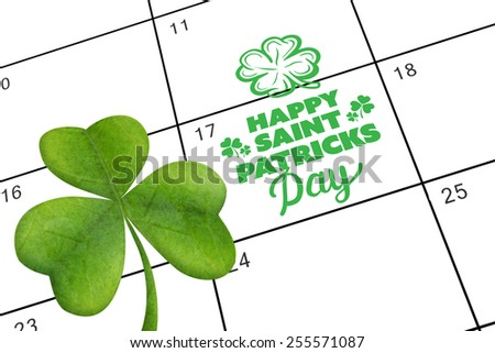 patricks day greeting against january calendar - stock photo