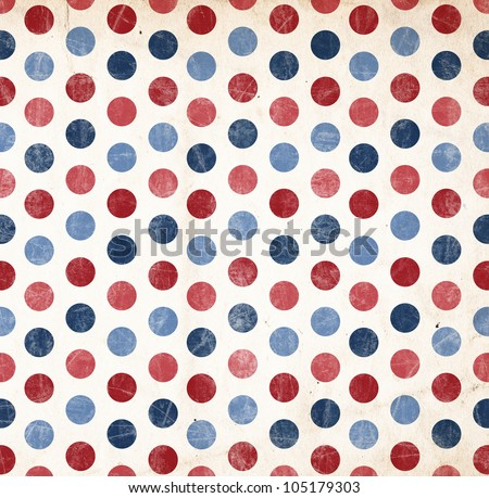 Patriotic Background - Red and Blue Dots - stock photo
