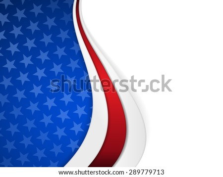 Patriotic background with wavy pattern and space for your text.Stars on dark blue background with wavy stripes in red and white make it a great backdrop for USA themes, like Independent Day, etc. - stock photo