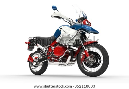 Patriotic Bike - stock photo