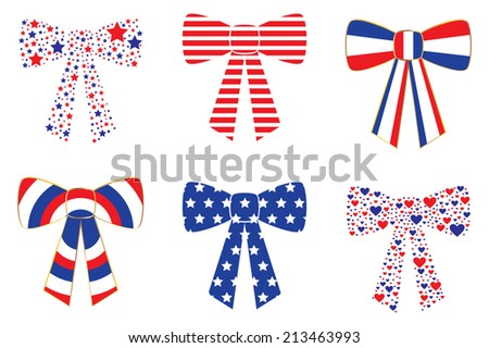 Patriotic Bows - stock photo
