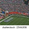 Patriots Fans at Gillette Stadium - stock photo