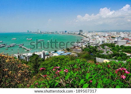Pattaya arch bay at Pattaya city,Thailand. - stock photo